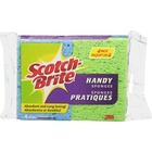 "Scotch-Brite Sponge - 7.7"" Height x 2.9"" Width x 0.6"" Depth - 4/Pack - Assorted"