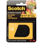 "Scotch Outdoor Fasteners - 3"" (76.2 mm) Length x 1"" (25.4 mm) Width - Dual Lock - 1 Pack - Black"