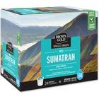 Brown Gold 100% Sumatran Bold-Roast Coffee - Sumatra - Bold - 24 / Box