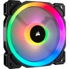 Corsair LL120 RGB 120mm Dual Light Loop RGB LED PWM Fan Single Pack - 1 Pack - 1 x 120mm - 4-pin PWM - RGB LED