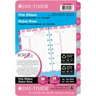 Day-Timer 2PPW Pink Ribbon Planner Refill - Julian - January till December - 8:00 AM to 5:00 PM - 2 Week Double Page Layout - Desk - Bilingual, Tabbed, Reference Calendar