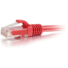 C2G Cat6 Snagless Crossover Cable - RJ-45 Male - RJ-45 Male - 1.52m - Red