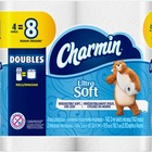 Charmin Ultra Soft Bathroom Tissue - 2 Ply - 142 Sheets/Roll - White - Soft, Absorbent, Comfortable, Clog-free, Septic-free - For Bathroom - 568 / Pack
