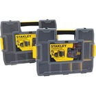 "Stanley SortMaster Junior - External Dimensions: 14.7"" Width x 11.5"" Depth x 2.7"" Height - Latch Lock, Lid Lock Closure - Stackable - Black, Yellow - For Tool, Hammer, Supplies - 1 Each"