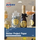 "Avery® Inkjet Print Printable Adhesive Paper - Letter - 8 1/2"" x 11"" - 3 / Pack - Gold"