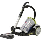 "BISSELL PowerClean Multi-Cyclonic Canister Vacuum w/ Motorized Power Foot 1654C - 2 L - Bagless - Motorized Floor Nozzle, Telescopic Wand, Brushroll, Upholstery Tool, Dusting Brush, Crevice Tool - 12"" (304.80 mm) Cleaning Width - Carpet, Bare Floor, Hard"