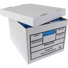 Crownhill Quick Setup Storage Box - 750 lb - Media Size Supported: Letter, Legal - Lid Lock Closure - For Document, File - Recycled - 12 / Carton
