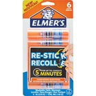 Elmers Re-Stick Washable Glue Stick - 2 g - 6 / Pack - Clear