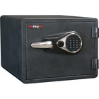 """FireKing 1-hour Fire Protect Electronic Lock Safe - Electronic Lock - 3 Live-locking Bolt(s) - Water Resistant - for Document, Office - Overall Size 14"""" x 18.5"""" x 19"""" - Black - Steel"""