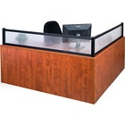 Heartwood Innovations Reception Desk Panel/Post - Polycarbonate - Black