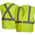 Impact Products Hi-Vis Work Wear Safety Vest - Reflective Strip, Lightweight - Extra Large Size - Visibility Protection - Zipper Closure - Polyester Mesh - Multi - 1 Each