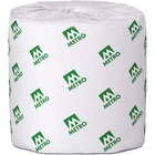 "Metro Paper 2 Ply Bathroom Tissue - 2 Ply - 4.2"" x 3.8"" - 420 Sheets/Roll - White - Soft, Individually Wrapped, Absorbent - 16800 / Carton"