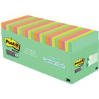 """Post-it® Miami Super Sticky Notes Cabinet Pack - 3"""" x 3"""" - Square - 70 Sheets per Pad - Multicolor - 24 / Pack"""