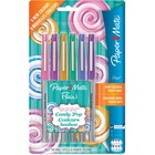 Paper Mate Flair Candy Pop Pens - Ultra Fine Pen Point - Felt Tip - 6 / Pack