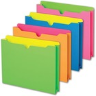 """Pendaflex Neon File Jackets - Letter - 8 1/2"""" x 11"""" Sheet Size - Full Tab Cut - Assorted Neon - 10 / Pack"""