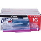 "Ziploc® Double Zipper Gallon Storage Bags - Large Size - 3.79 L - 10.56"" (268.29 mm) Width x 10.75"" (273.05 mm) Depth - 2.70 mil (69 Micron) Thickness - Clear - Plastic - 250/Carton - Food, Vegetables, Fruit, Cosmetics, Yarn, Business Card, Map, Meat,"