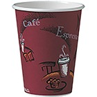 Unisource Bistro Design Disposable Paper Cups - 50 / Pack - Multi - Poly, Paper, Polyethylene - Beverage, Coffee, Tea, Cocoa