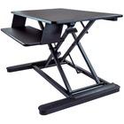 """StarTech.com Sit Stand Desk Converter - Keyboard Tray - Height Adjustable Ergonomic Desktop/Tabletop Standing Desk - Large 35""""x21"""" Surface - Sit-stand desk converter w/large 35.4x20.9in area - Height adjustable standing desk (6.3-22in from desk) - Assembl"""