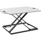 "Amer Mounts Ultra Slim Height Adjustable Standing Desk- White Finish - 10 kg Load Capacity - 31.30"" (795.02 mm) Width x 21.30"" (541.02 mm) Depth - Desktop - Steel, Board, Plastic, Iron - White"