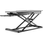 """Amer Mounts Sit-Stand Integrated Desk Workstation - 15 kg Load Capacity - 31.50"""" (800.10 mm) Width x 19.70"""" (500.38 mm) Depth - Desktop - Chipboard, Steel, Plastic - Black"""
