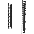 C2G Vertical Cable Management Kit for 26RU Swing-Out Wall-Mount Cabinet - Black - 26U Rack Height - Steel