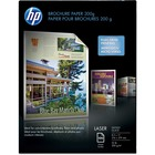 """HP Laser Brochure/Flyer Paper - Letter - 8 1/2"""" x 11"""" - 52 lb Basis Weight - Glossy, Smooth - 100 / Pack - White"""