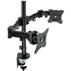 "3M Clamp Mount for Monitor - Black - 2 Display(s) Supported28.5"" Screen Support - 18.14 kg Load Capacity"