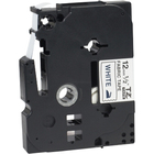"Brother Label Tape - 45/64"" Width x 118 7/64"" Length - Thermal Transfer, Direct Thermal - White - Plastic"