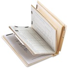 """Business Source 6-Part End Tab Classification Folders - Letter - 8 1/2"""" x 11"""" Sheet Size - 2"""" Fastener Capacity - End Tab Location - 2 Divider(s) - 18 pt. Folder Thickness - Stock - Recycled - 10 / Box"""