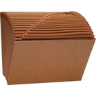 """Business Source Expanding File - Letter - 8 1/2"""" x 11"""" Sheet Size - 21 Pocket(s) - Brown - Recycled - 1 Each"""