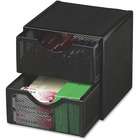 Rolodex Expressions Mesh Drawers Cube - 2 Drawer(s) - Desktop - Black - Steel - 1Each