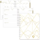 Blueline Gold Collection Diary - Yes - Weekly, Monthly, Daily - January till December - 1 Week Single Page Layout - Twin Wire - White - Bilingual, Hard Cover, Laminated Tab