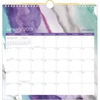 """At-A-Glance Cambridge Calendar - Yes - Monthly, Weekly - 1 Year - January till December - 1 Month Single Page Layout - 12"""" x 12"""" - Wire Bound - Wall Mountable - White - Reference Calendar, Hanging Loop"""