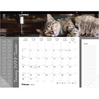 """Blueline 2019 Monthly Desk Pad Furry Collection - Yes - Monthly - January 2021 till December 2021 - 1 Month Single Page Layout - 17"""" x 22"""" Sheet Size - Desk Pad - Paper - Bilingual, Notes Area, Tear-off, Event Planning Sheet - 1 Each"""