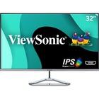 """Viewsonic VX3276-mhd 31.5"""" Full HD LED LCD Monitor - 16:9 - Metallic Silver - 32"""" (812.80 mm) Class - SuperClear IPS - 1920 x 1080 - 250 cd/m² - 4 ms - HDMI - VGA - DisplayPort - Speaker"""