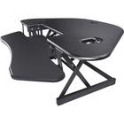 "Lorell Corner Desk Riser - 18.14 kg Load Capacity - 18"" (457.20 mm) Height x 45.50"" (1155.70 mm) Width - Desktop - Black"