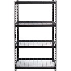 "Lorell Wire Deck Shelving - 60"" Height x 36"" Width x 18"" Depth - Recycled - Black - Steel - 1Each"
