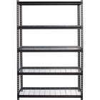 "Lorell Wire Deck Shelving - 72"" Height x 48"" Width x 18"" Depth - Recycled - Black - Steel - 1Each"