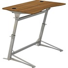 """Safco Verve Standing Desk - Laminated, Walnut Top - 42"""" Height x 47.3"""" Width x 31.8"""" Depth - Assembly Required"""