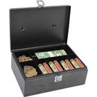 "Royal Sovereign Latch Lock Cash Box - 1 Bill - 6 Coin - Gray - 3.90"" (99.06 mm) Height x 11"" (279.40 mm) Width x 7.75"" (196.85 mm) Depth"