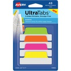"Avery® Neon Margin Ultra Tabs - 2-side Writable - Repositionable - 48 Write-on Tab(s) - 1"" Tab Height x 2.50"" Tab Width - Assorted Neon Tab(s) - 48 / Pack"