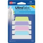 "Avery® Margin Ultra Tabs - 2-side Writable - Repositionable - Write-on Tab(s) - 1"" Tab Height x 2.50"" Tab Width - Assorted Pastel Tab(s) - 48 / Pack"