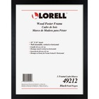 "Lorell Wide Frame - 18"" x 24"" Frame Size - Rectangle - Wall Mountable - Horizontal, Vertical - 1 Each - Wood - Black"