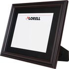 "Lorell Two-toned Certificate Frame - 13"" x 10.50"" Frame Size - Rectangle - Wall Mountable, Desktop - Horizontal, Vertical - 1 Each - Rosewood"