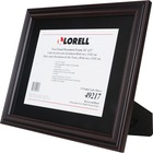 "Lorell Two-toned Certificate Frame - 11"" x 14"" Frame Size - Rectangle - Wall Mountable, Desktop - Horizontal, Vertical - 1 Each - Rosewood"