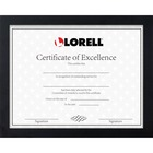 "Lorell Certificate Frame - 8.50"" x 11"" Frame Size - Rectangle - Wall Mountable, Desktop - Horizontal, Vertical - 1 Each - Black"