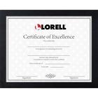 "Lorell Certificate Frame - 8.50"" x 11"" Frame Size - Rectangle - Desktop - Horizontal, Vertical - 1 Each - Black"