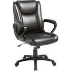 "Lorell Soho High-back Leather Chair - Black Bonded Leather Seat - Black Bonded Leather Back - 5-star Base - 18.5"" Seat Width - 26.4"" Length x 24"" Width x 24.8"" Depth x 38.3"" Height - 1 Each"