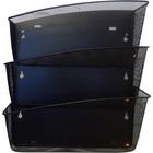 "Alba Mesh Wall File Set - 3 Pocket(s) - Compartment Size 6.69"" (170 mm) x 13.78"" (350 mm) x 4.72"" (120 mm) - 15.9"" Height4.7"" Depth x 13.8"" Length - Black - Steel, Metal"