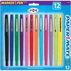 Paper Mate Candy Pop Pack Felt Tip Pens - Water Based Ink - 12 / Set